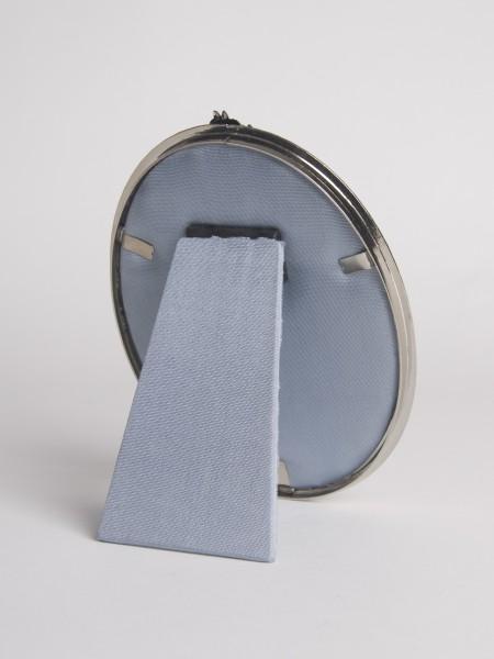 Bronze Email-Fotorahmen oval (silber)