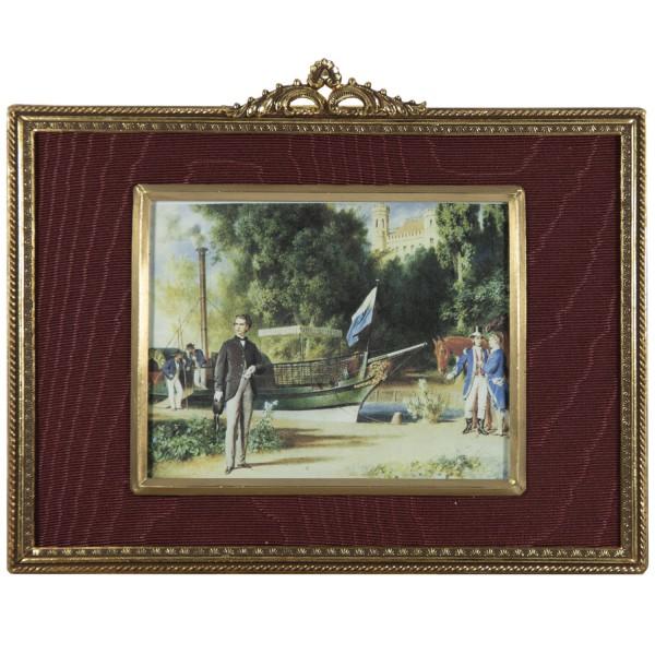 Miniatur-Rahmen mit Kunstdruck Bildgröße 9x12cm außen15x12 cm