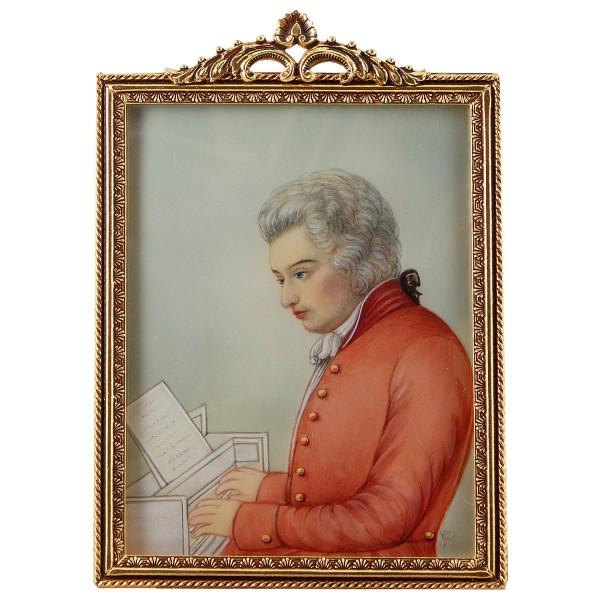 Miniatur-Rahmen mit Malerei Bildgröße 7x9 cm Mozart