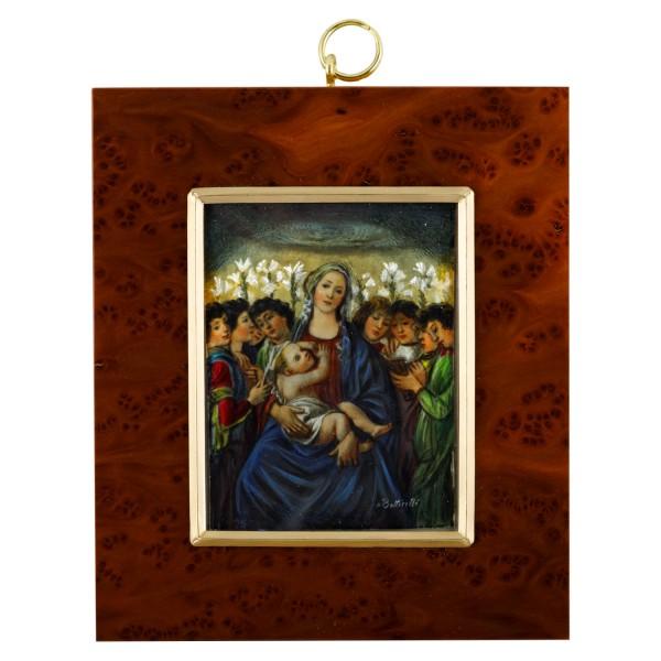 Miniatur-Rahmen mit Malerei Bildgröße 7x9cm auß.10x12,5