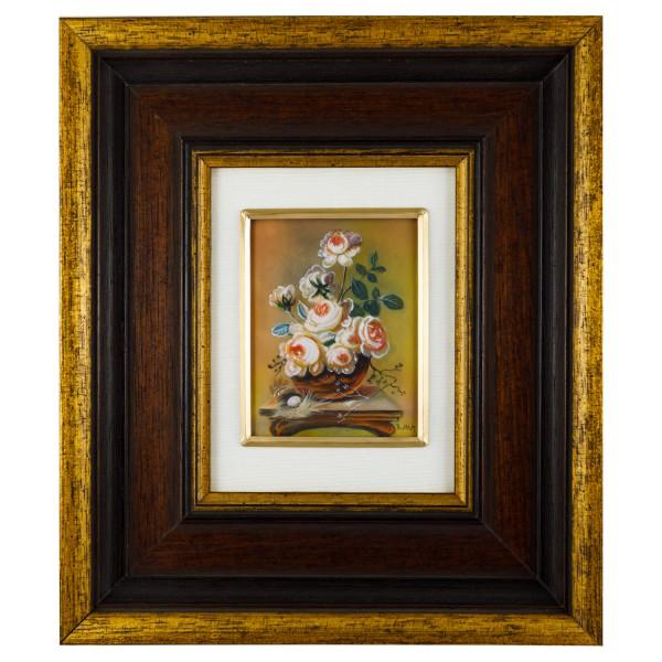 Miniatur-Rahmen mit Malerei Bildgröße 7x9cmauß.20x23cm
