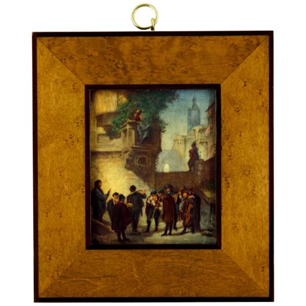 Miniatur-Rahmen mit Malerei Bildgröße 8x10cm auß.14x16