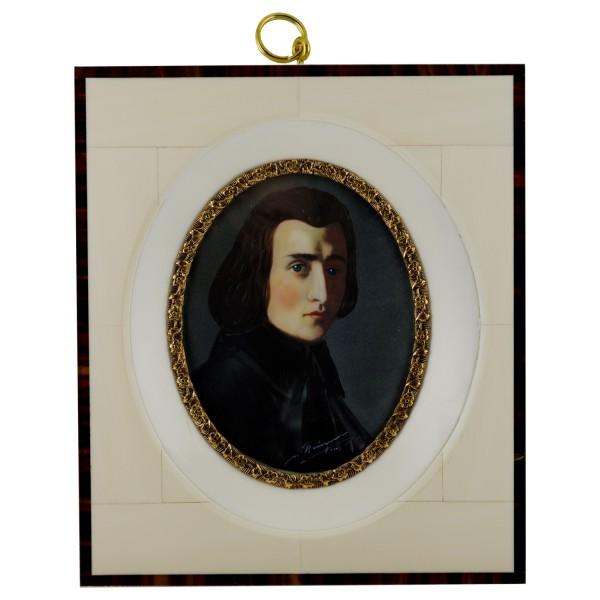 Miniatur-Rahmen mit Malerei Bildgröße 7x9 cm außen12-14