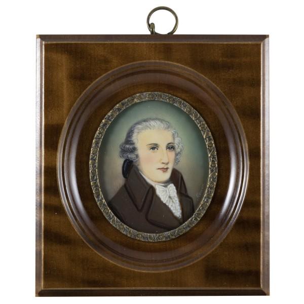 Miniatur-Rahmen mit Malerei Bildgröße 5x6 cm außen10x11cm Joseph Haydn