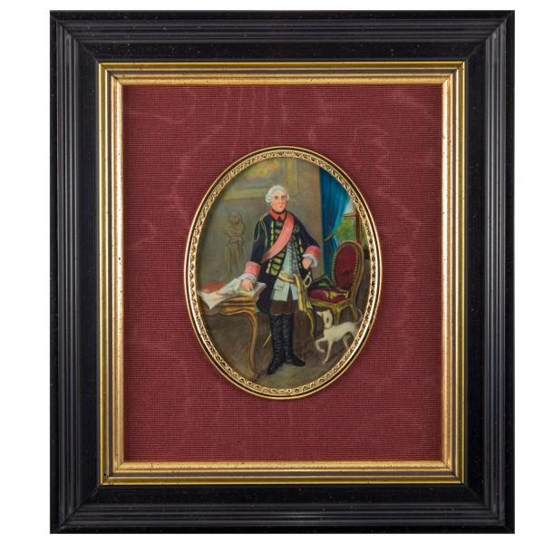 Miniatur-Rahmen mit Malerei Bildgröße 7x9cm auß.16x18