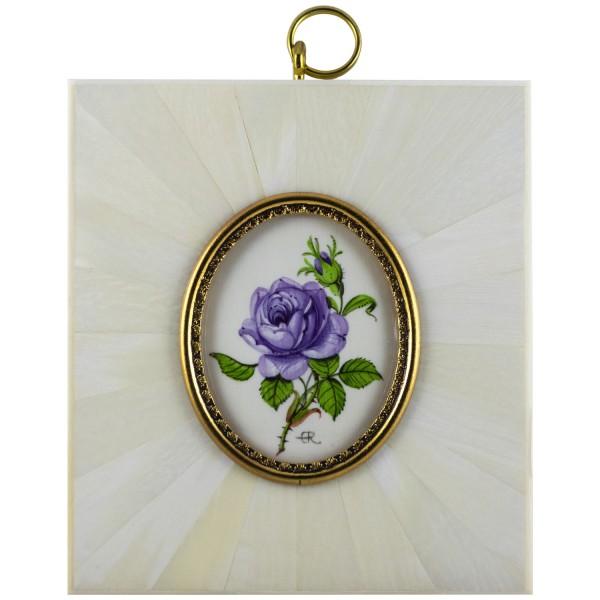 Miniatur-Rahmen mit Malerei Bildgröße 4x5 cm außen 8,5x9,5 cm