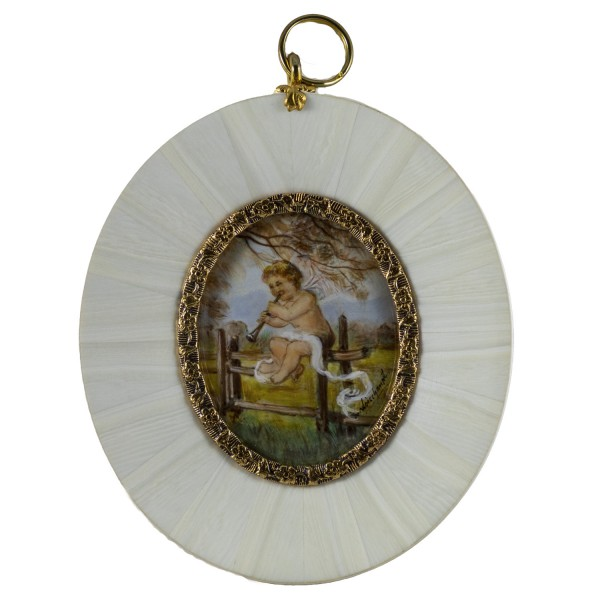 Miniatur-Rahmen mit Malerei Bildgröße 4x5cmaußen 8x9 cm