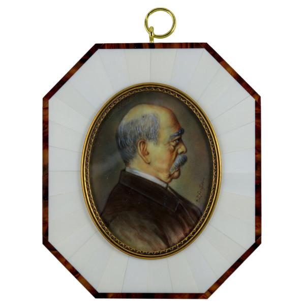 Miniatur-Rahmen mit Malerei Bildgröße 7x9 cm außen 11x14 cm