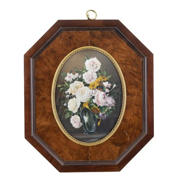 Miniatur-Rahmen mit Malerei Bildgröße 9x12 cm