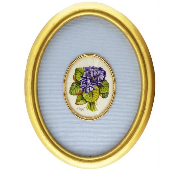 Miniatur-Rahmen mit Malerei Bildgröße 7x9cm