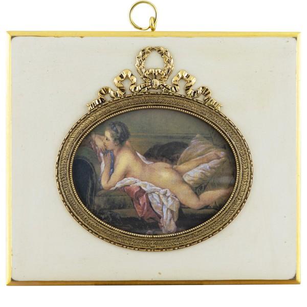 Miniatur-Rahmen mit Kunstdruck Bildgröße 7x9 cm