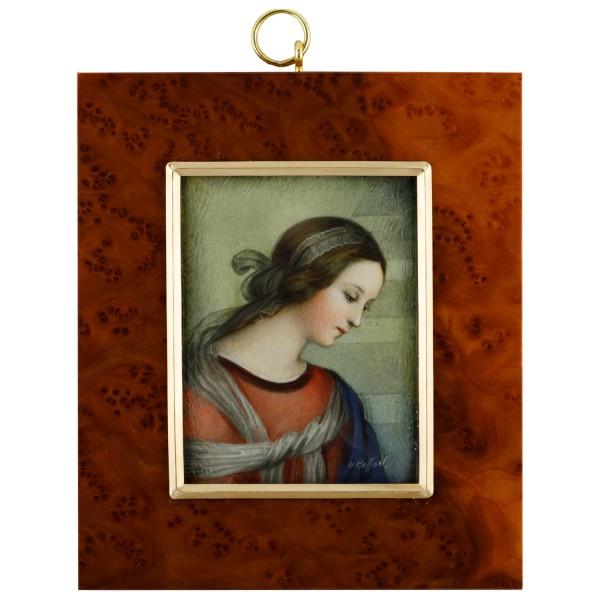 Miniatur-Rahmen mit Malerei Bildgröße 7x9cmauß.10x12,5
