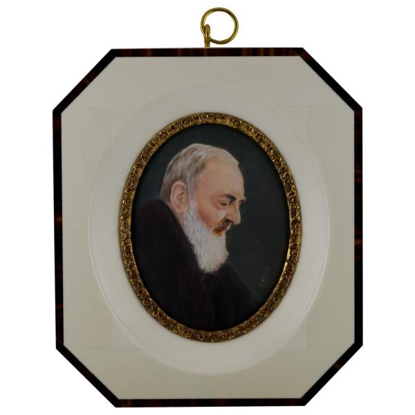 Miniatur-Rahmen mit Malerei Bildgröße 7x9 cm außen12x14