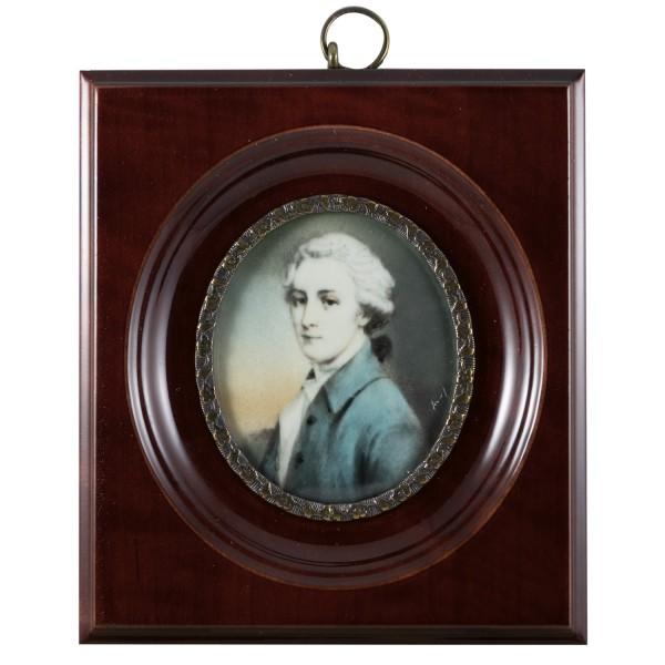 Miniatur-Rahmen mit Malerei Bildgröße 5x6 cm außen10x11cm Herzog von Rutland