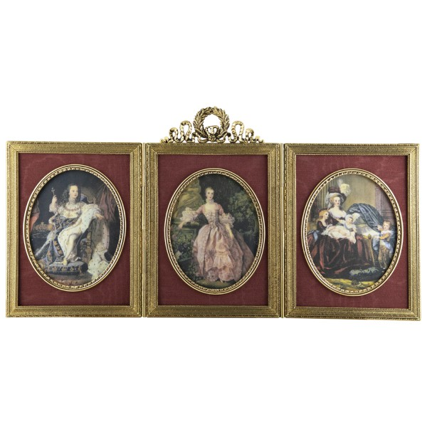 Miniatur-Rahmen mit Kunstdruck Bildgröße 7x9cm außen29x15 cm