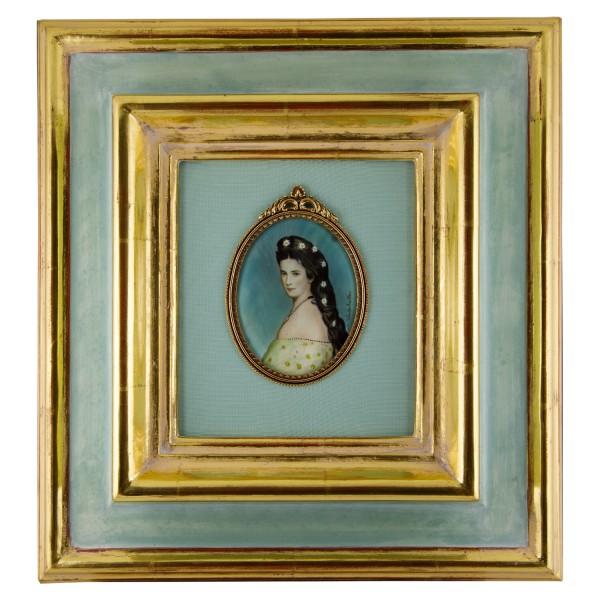Miniatur-Rahmen mit Malerei Bildgröße 7x9cmauß.27x29cm