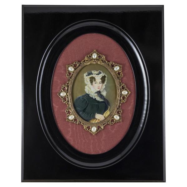 Miniatur-Rahmen mit Malerei Bildgröße 7-9 cm Außenmaß 25x20 cm-