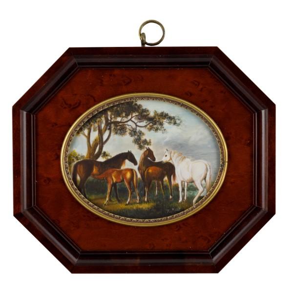 Miniatur-Rahmen mit Malerei Bildgröße 7x9cmauß.12x14